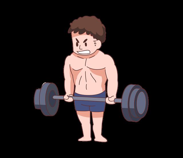 运动撸铁矢量图