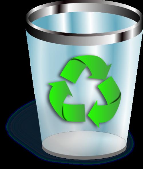 绿色可回收垃圾桶