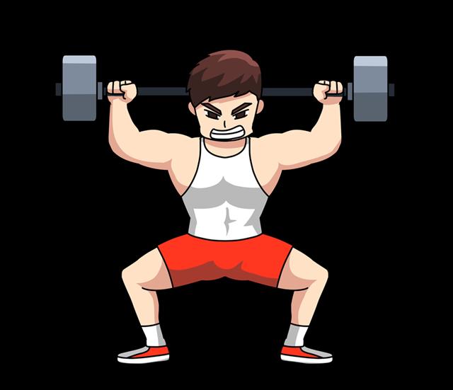 健身撸铁矢量图