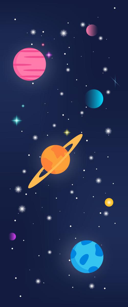 卡通太空背景图