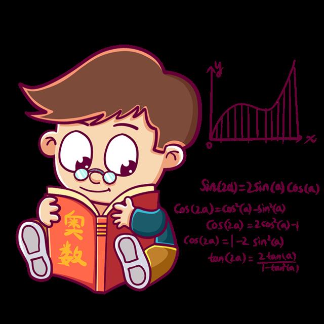 儿童学习知识矢量图