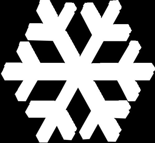 白色六角雪花