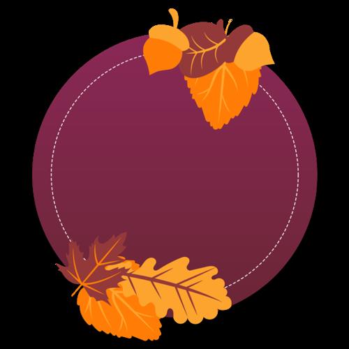 秋天元素文本框