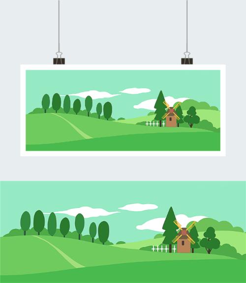 环境保护背景图