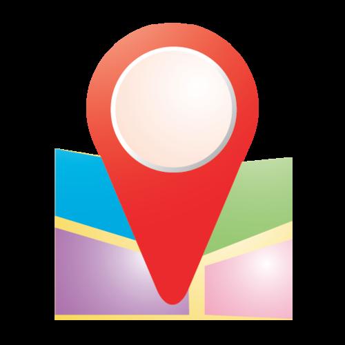 扁平化GPS图标