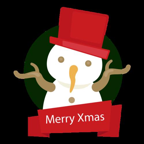 圣诞雪人logo