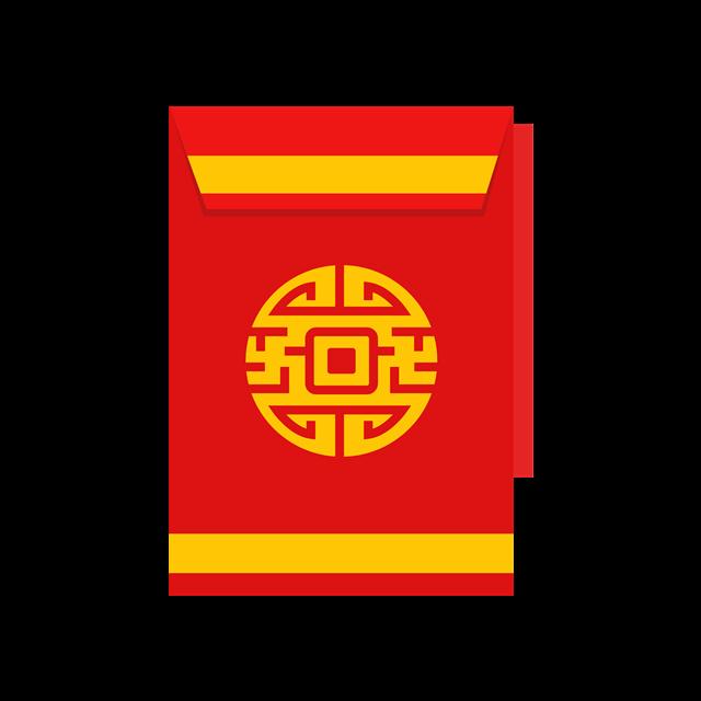 春节红包简笔画