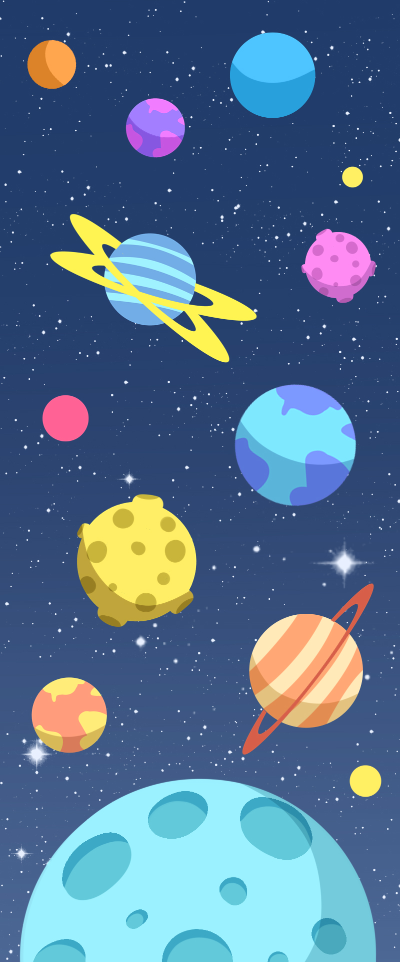 卡通太空宇宙元素背景