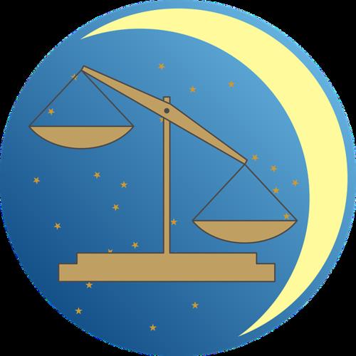 漫画风天秤座标志logo