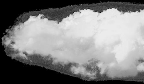 白色云状烟雾元素