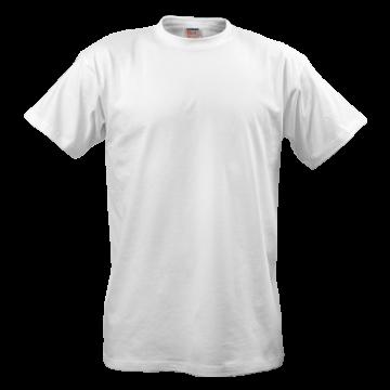 白色短袖T恤矢量图