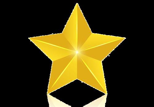 金色质感五角星星星