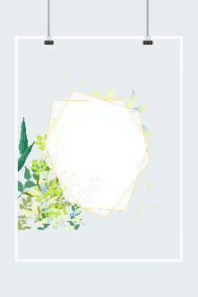 植物绿叶几何边框