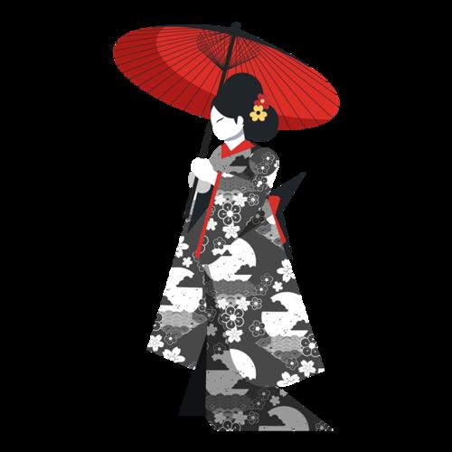 浮世绘日本和服美女