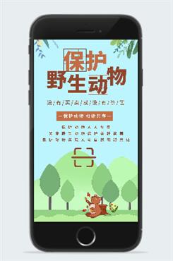 创意保护野生动物海报