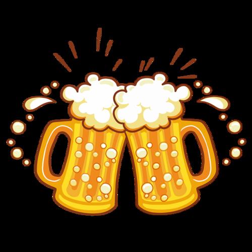 啤酒干杯插画图片