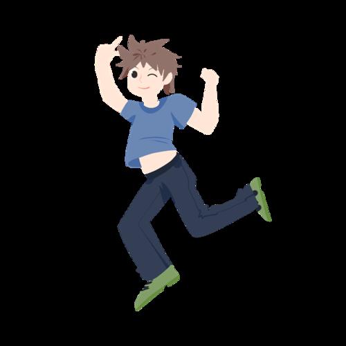 学习跳舞男孩矢量图