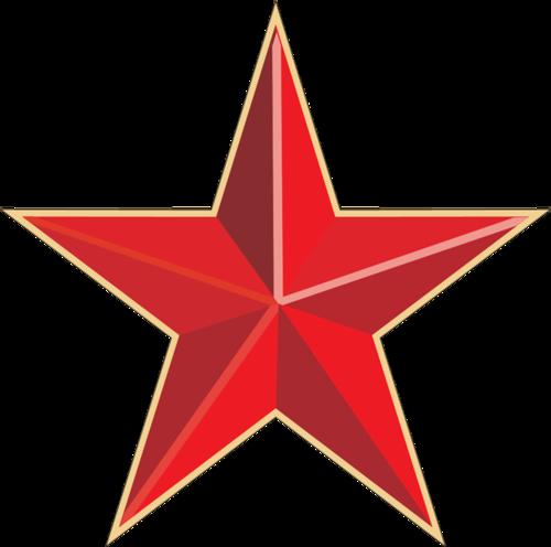 红色党建徽章星星