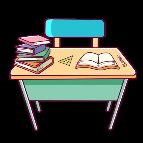 学习课桌矢量图