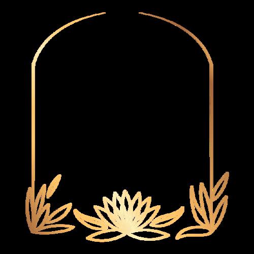 金色拱形边框