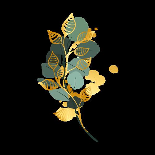 树叶彩绘装饰