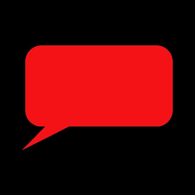 长方形聊天对话框