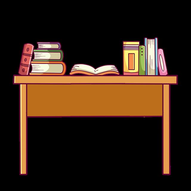 学习书桌插画