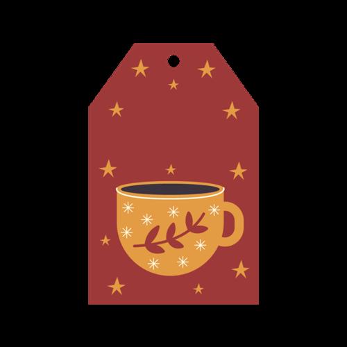 咖啡杯标签