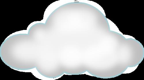 白云云朵卡通天空元素