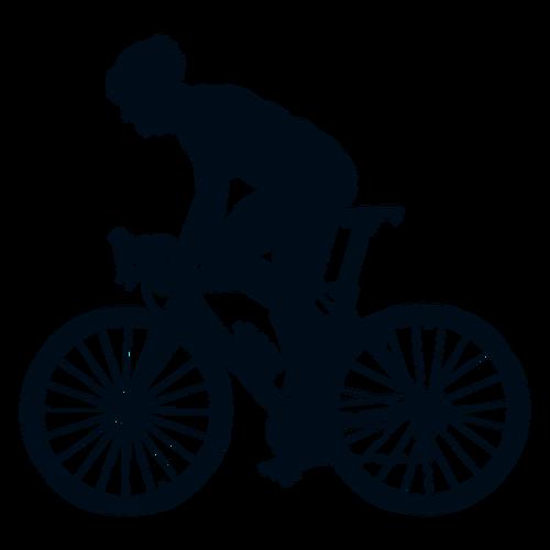 骑自行车人物剪影
