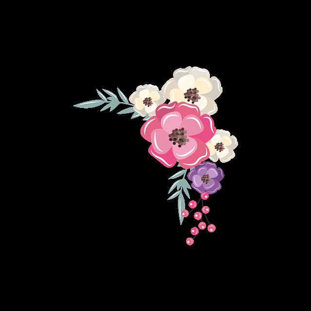 手绘花草花卉装饰