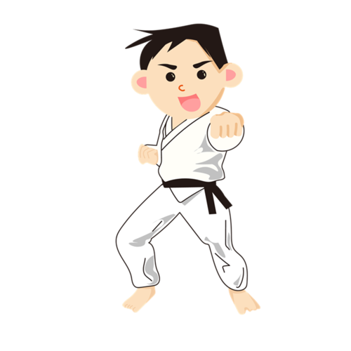 学习跆拳道的男孩