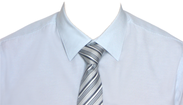 白衬衫男士证件照模板