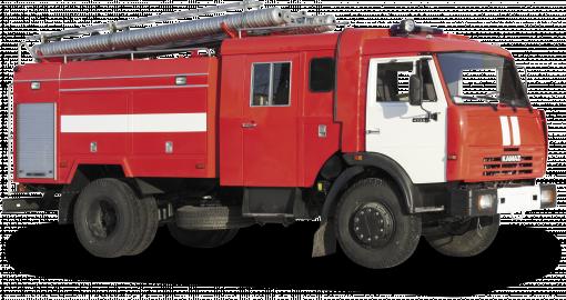 真实消防车摄影素材