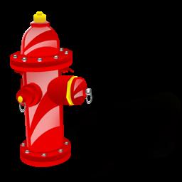 卡通红色消防栓