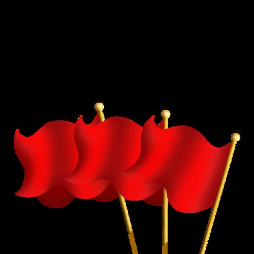 党政党建红旗
