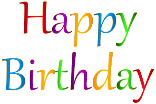 happy birthday字体