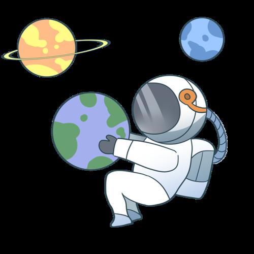 宇航员卡通人物