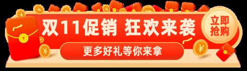 双11狂欢胶囊banner