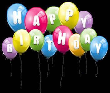 生日快乐气球艺术字
