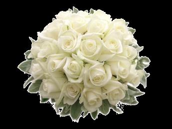 婚礼白色花束