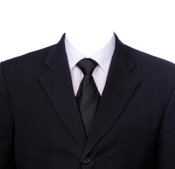 男士西装证件照衣服模板
