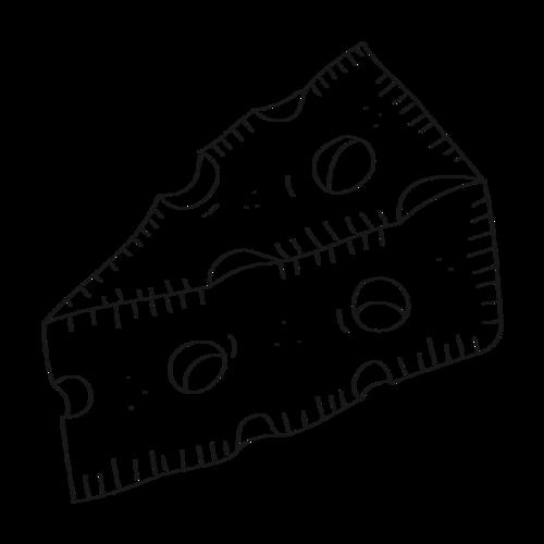 黑白手绘奶酪填色