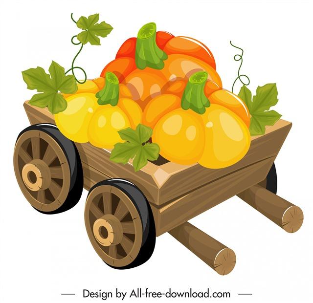 南瓜蔬菜插画