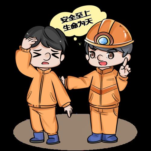 安全施工人物宣传图