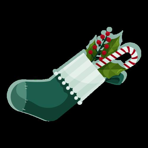 彩色手绘圣诞袜图片