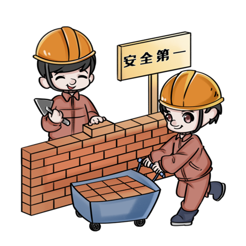 安全生产施工插画