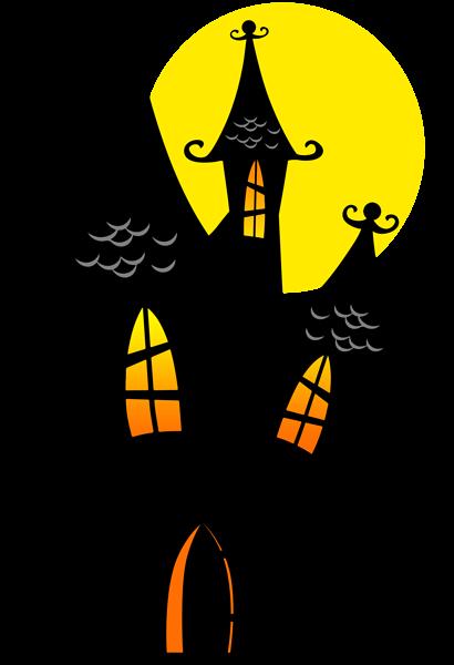 卡通万圣节古堡