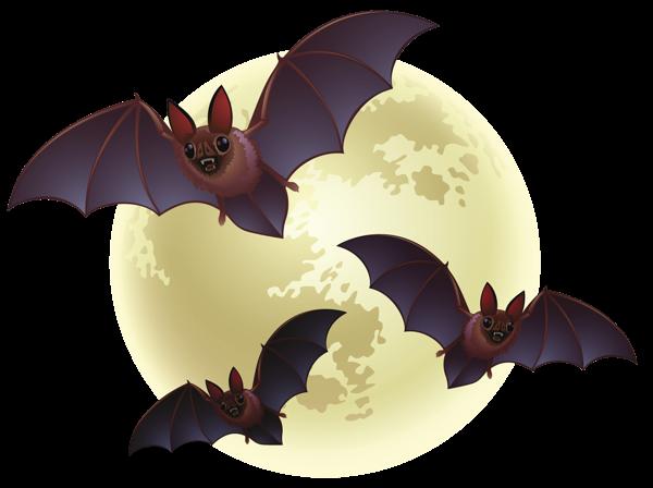 万圣节蝙蝠月亮