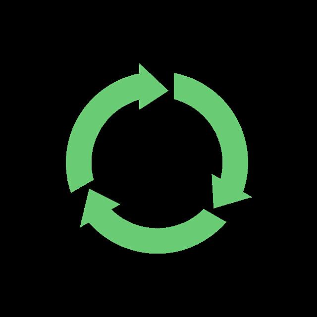 绿色循环箭头标志
